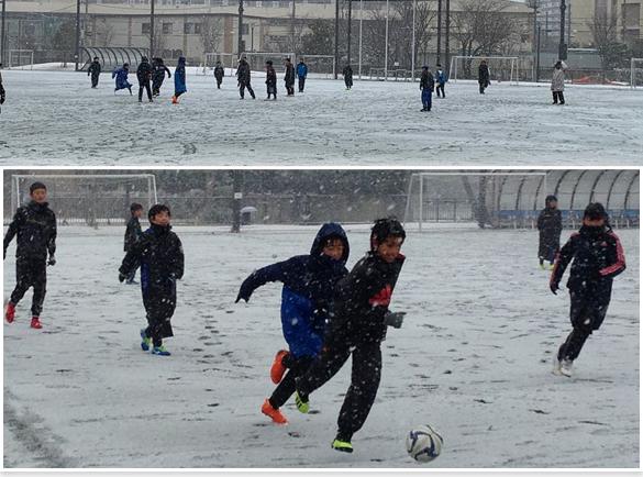 雪の中~ 全体練習