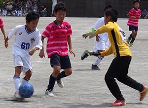 mizumo4年生サッカー練習試合原田小学校