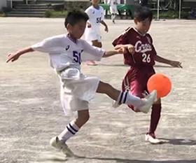 mizumo4年生サッカー足立区遠征西新井第二小学校練習試合