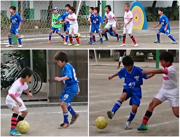 4年生小学生サッカー練習試合