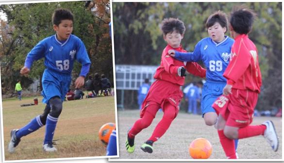4年生小学生サッカー北本市遠征練習試合北里大学メディカルセンターG