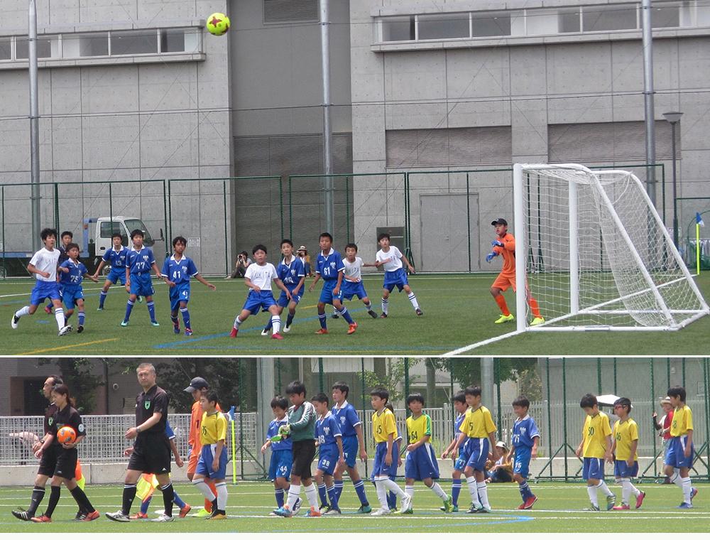 6年生小学生サッカー試合東京リーグ Bリーグ