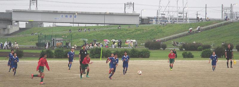 6年生小学生サッカー試合2ブロックリハウスリーグ前期最終節