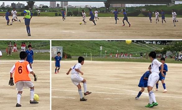 6年生小学生サッカー練習試合